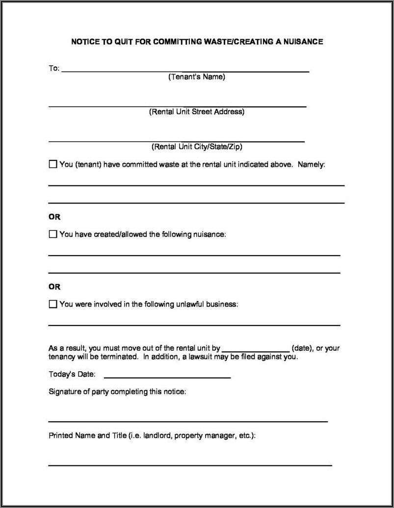 3 Day Eviction Notice Form Washington State