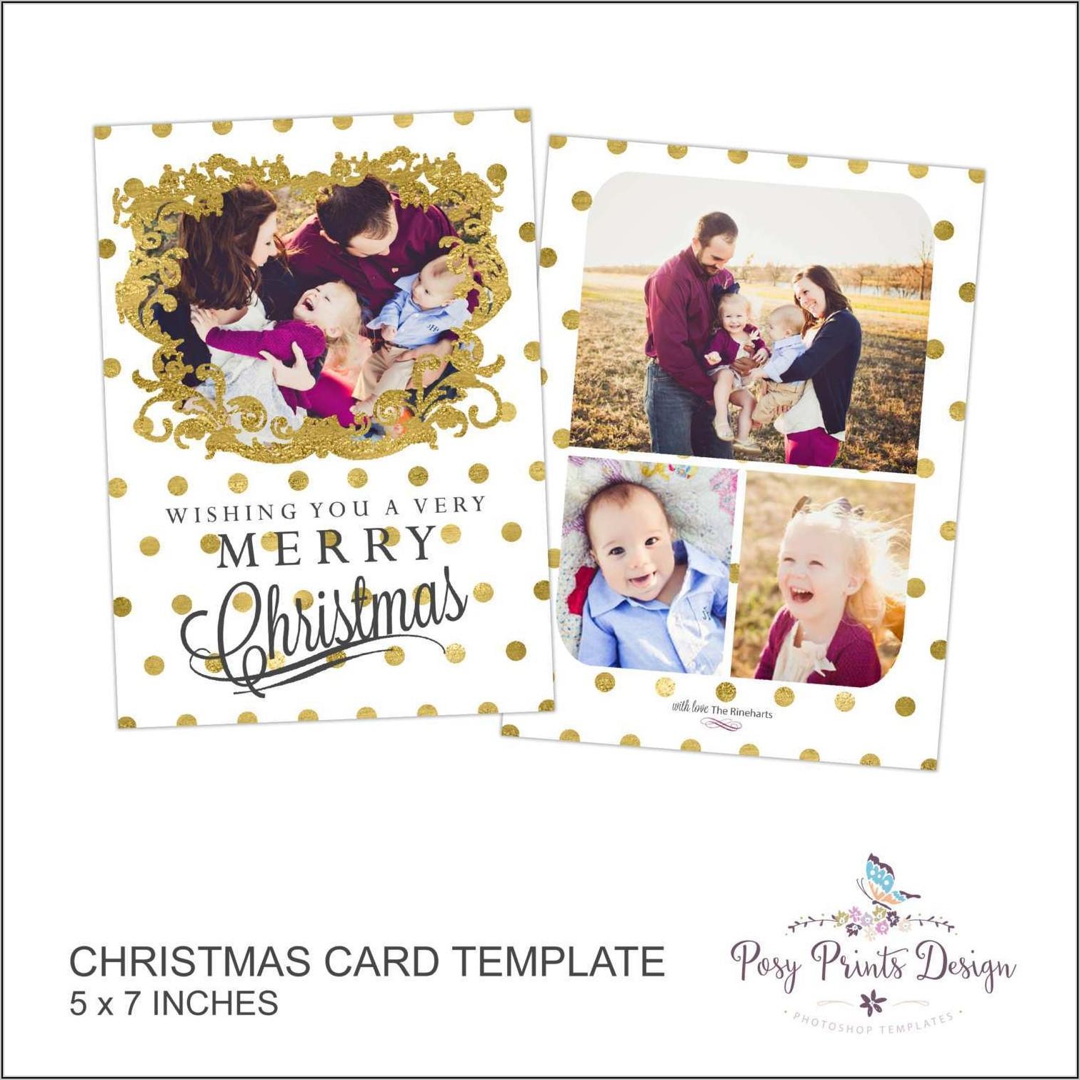 5 X 7 Christmas Card Template