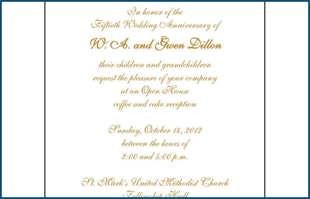 50th Wedding Anniversary Invitations Walmart