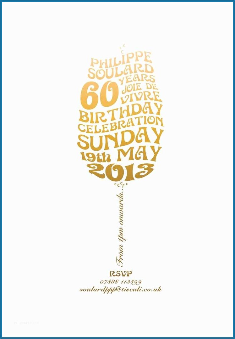 60th Birthday Invitation Card Ideas