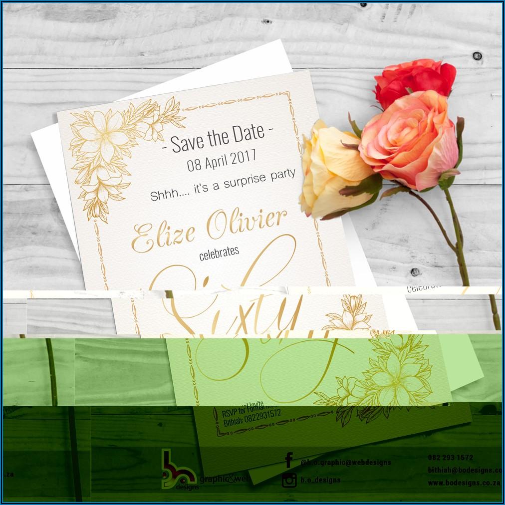 60th Birthday Invitation Designs