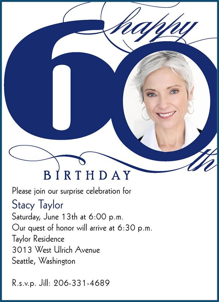 60th Birthday Invitation Ideas Free