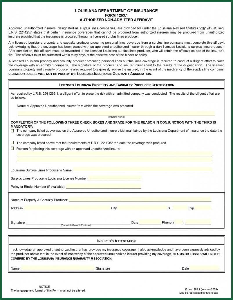 Affidavit Form Pdf Free Download