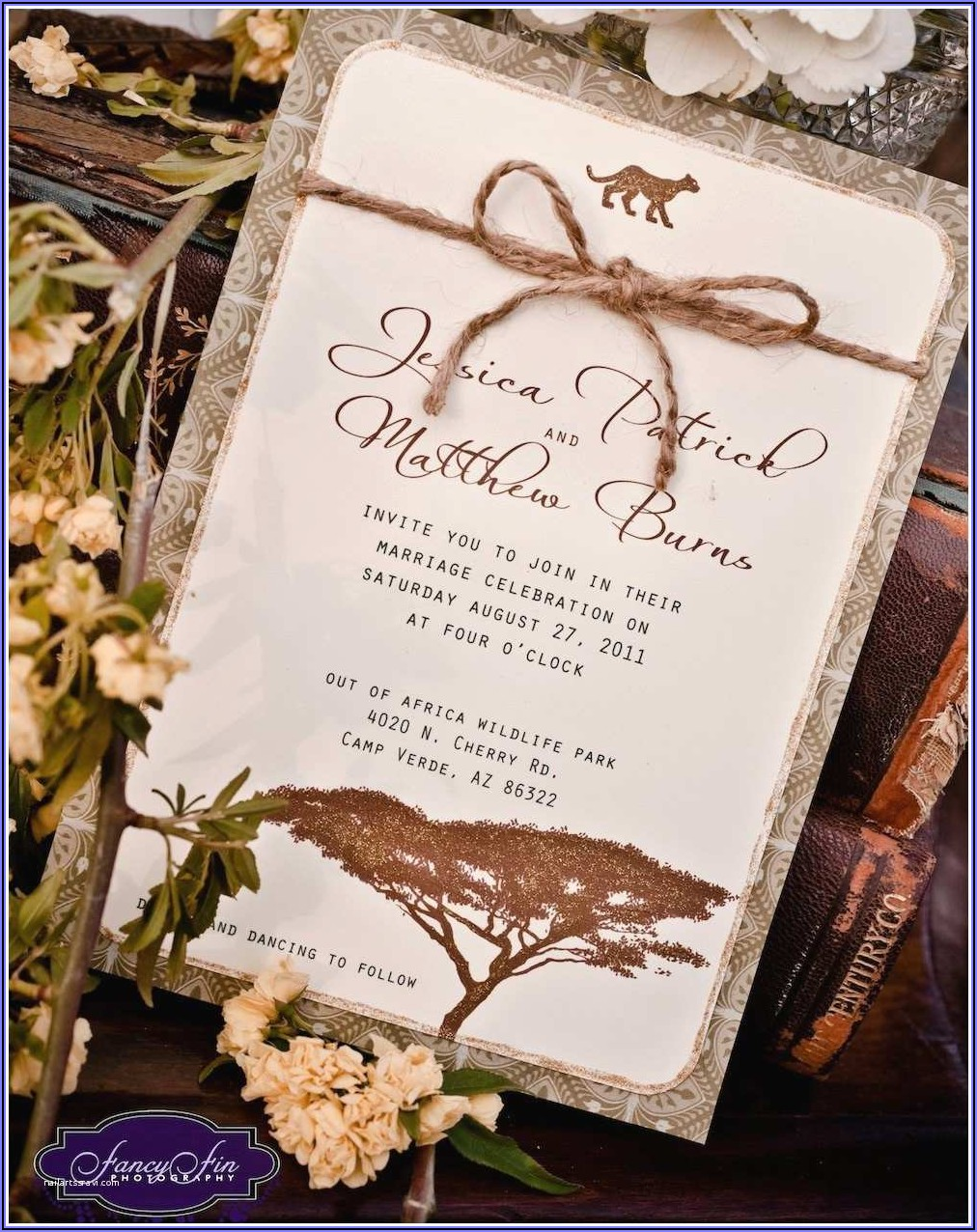 African Themed Invitations Templates