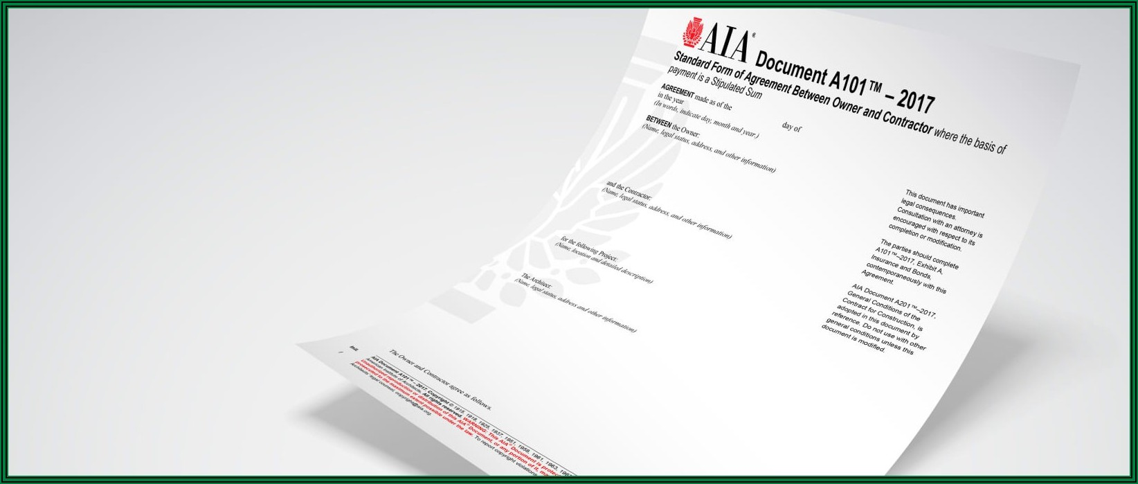 Aia Document A101 Commentary