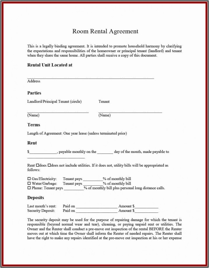 Apartment Lease Agreement Word Document