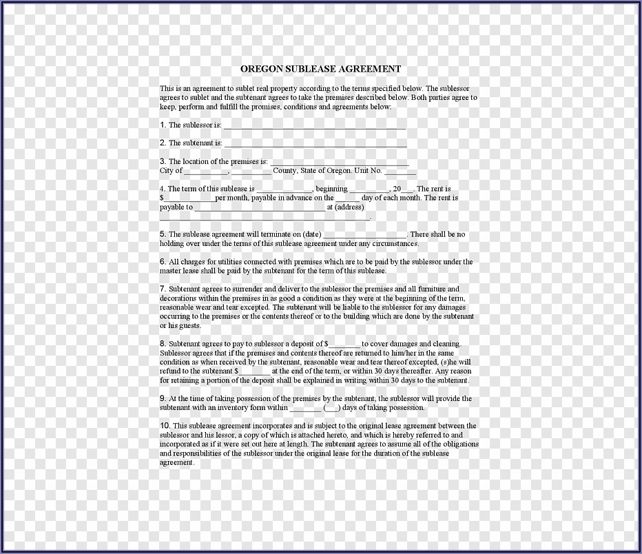 Apartment Rental Contract Agreement