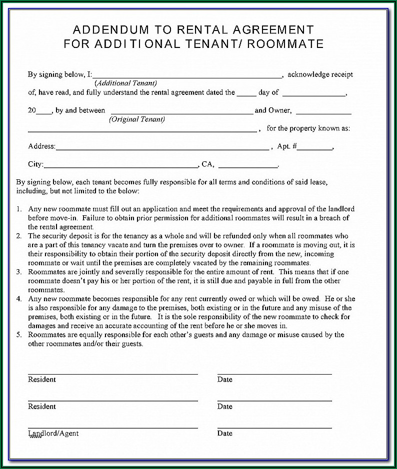 Apartments Lease Forms