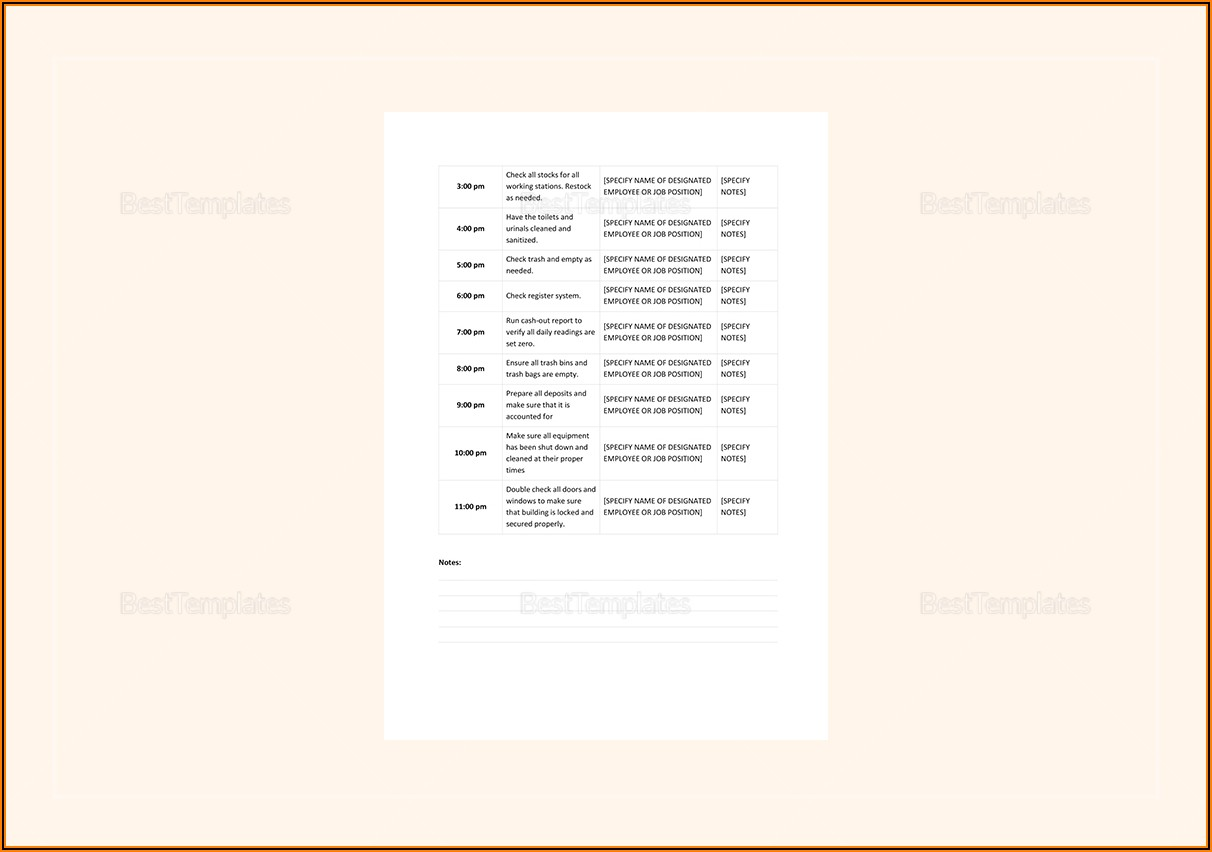 Apple Pages Daily Planner Template