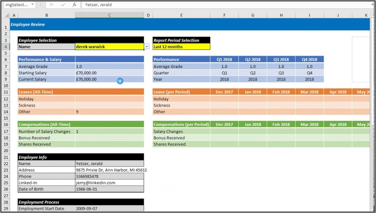Applicant Tracking Excel Template