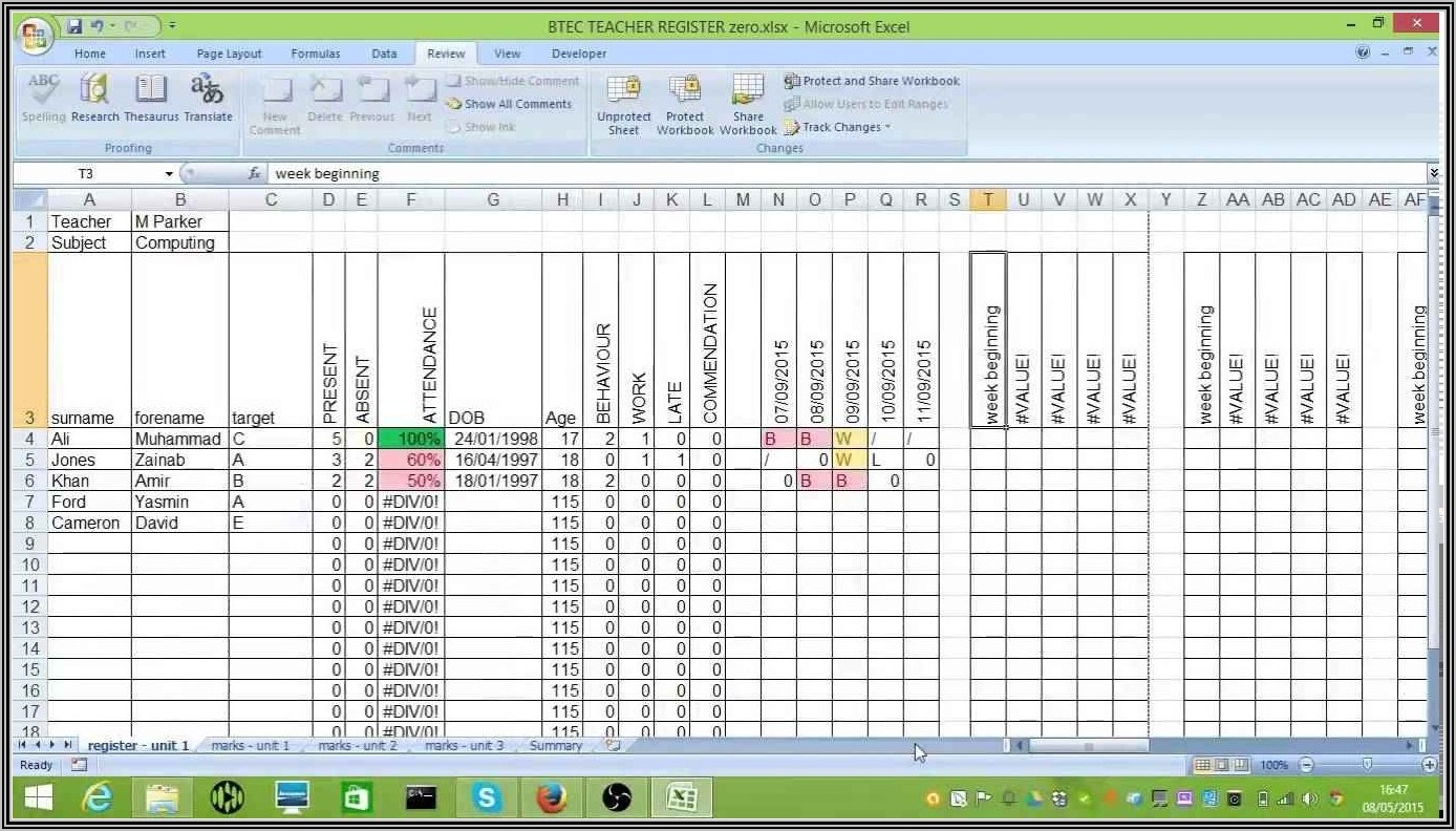 Application Downtime Tracking Excel Template