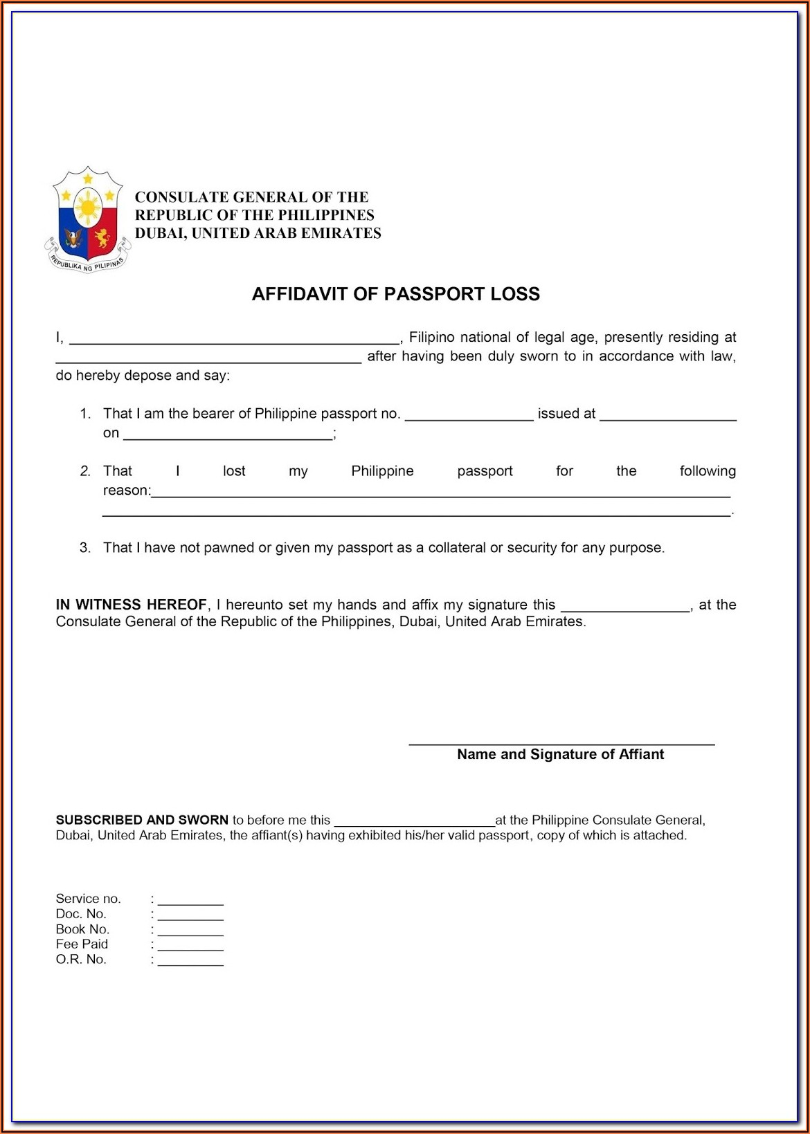 Application Form For Lost Indian Passport In Uk