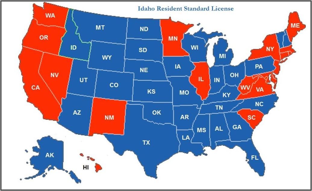 Arizona Non Resident Ccw Reciprocity Map