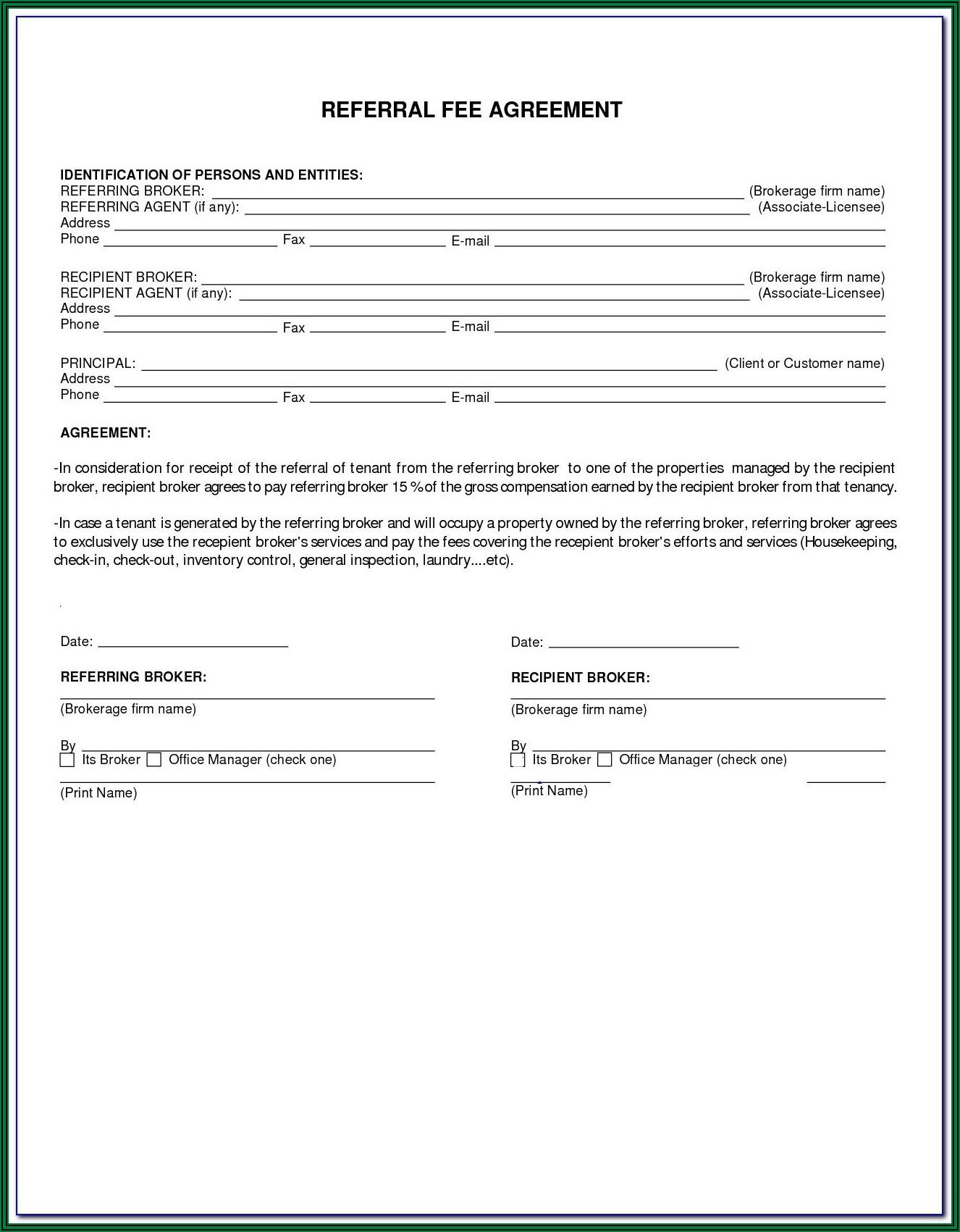 Arizona Real Estate Addendum Form