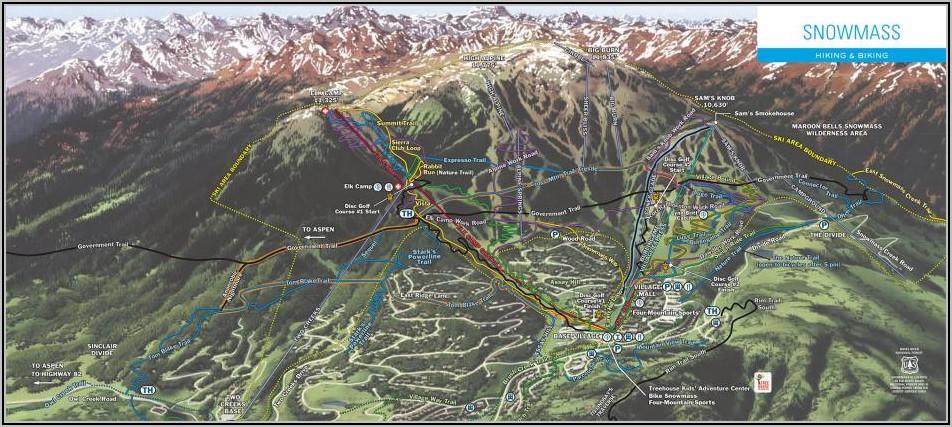 Aspen Snowmass Bike Park Trail Map