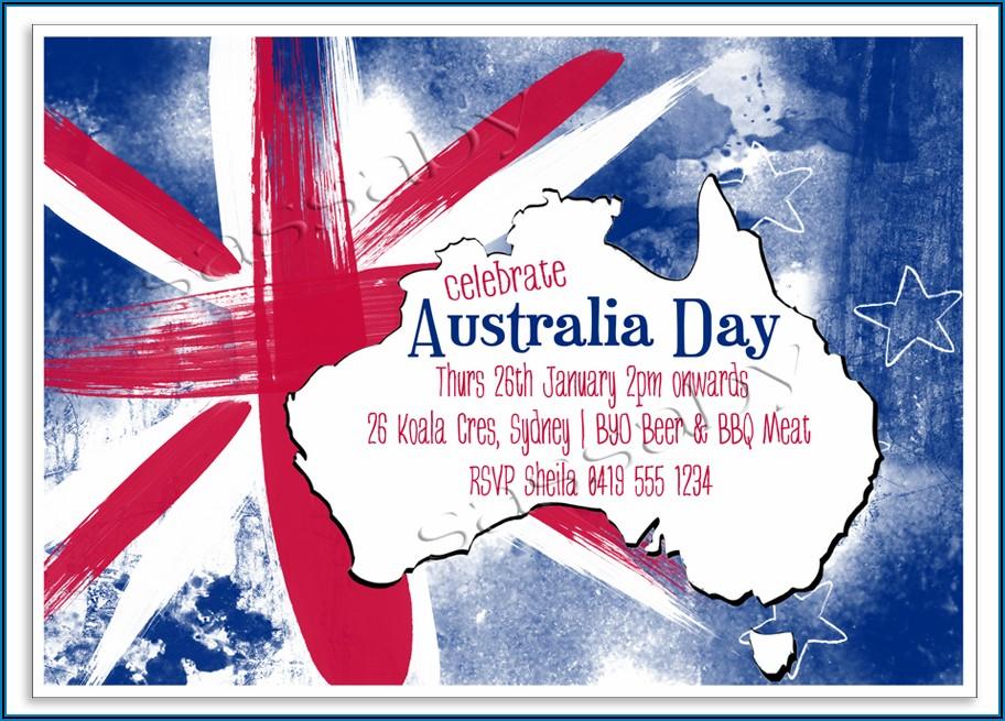 Australia Day Bbq Invitation Template Free