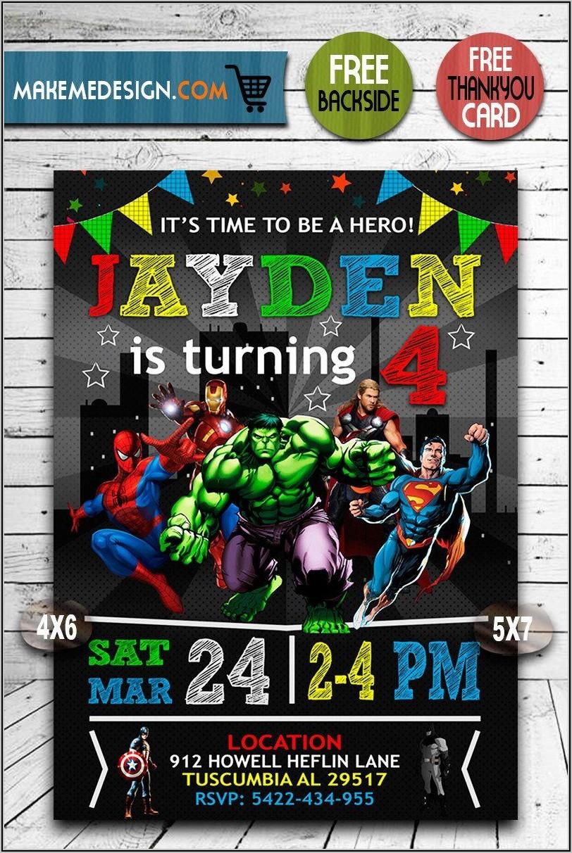 Avengers Invitations Template Free