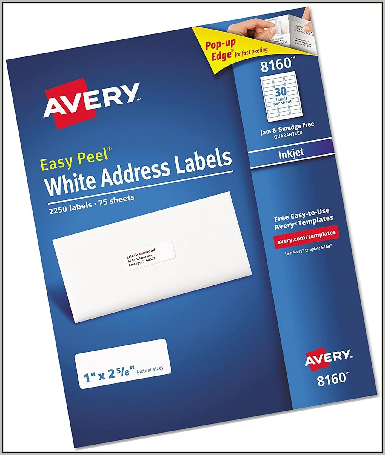 Avery 2x4 Clear Labels Template