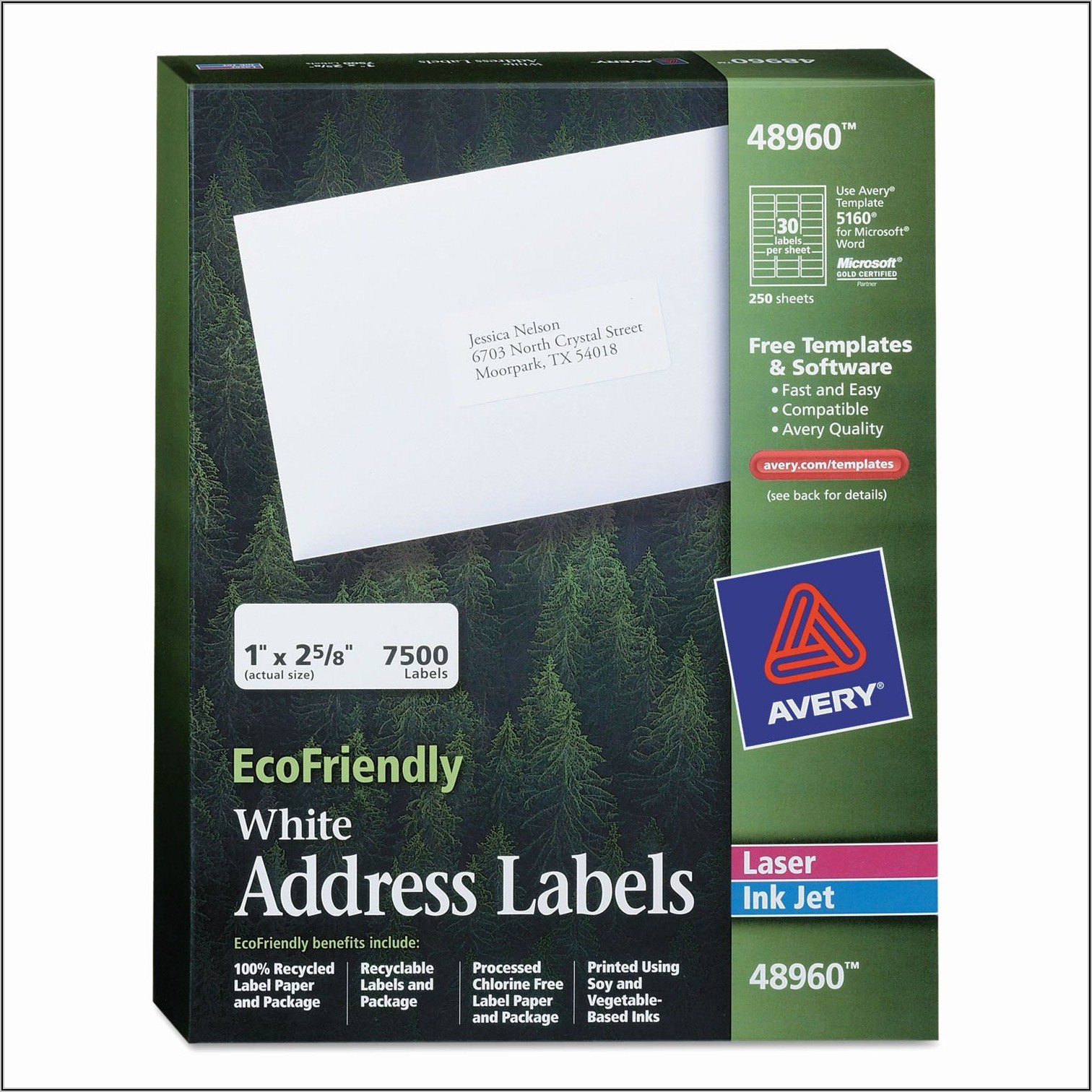 Avery 2x4 Labels Template
