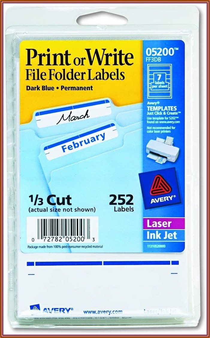 Avery File Folder Labels Template 5160