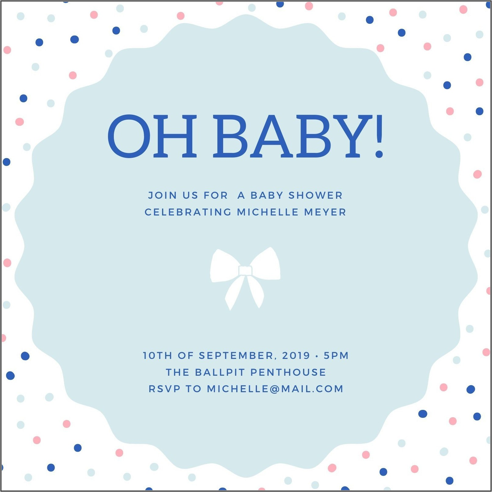 Baby Boy Shower Invitation Templates Free