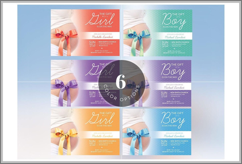Baby Shower Invitation Templates Photoshop