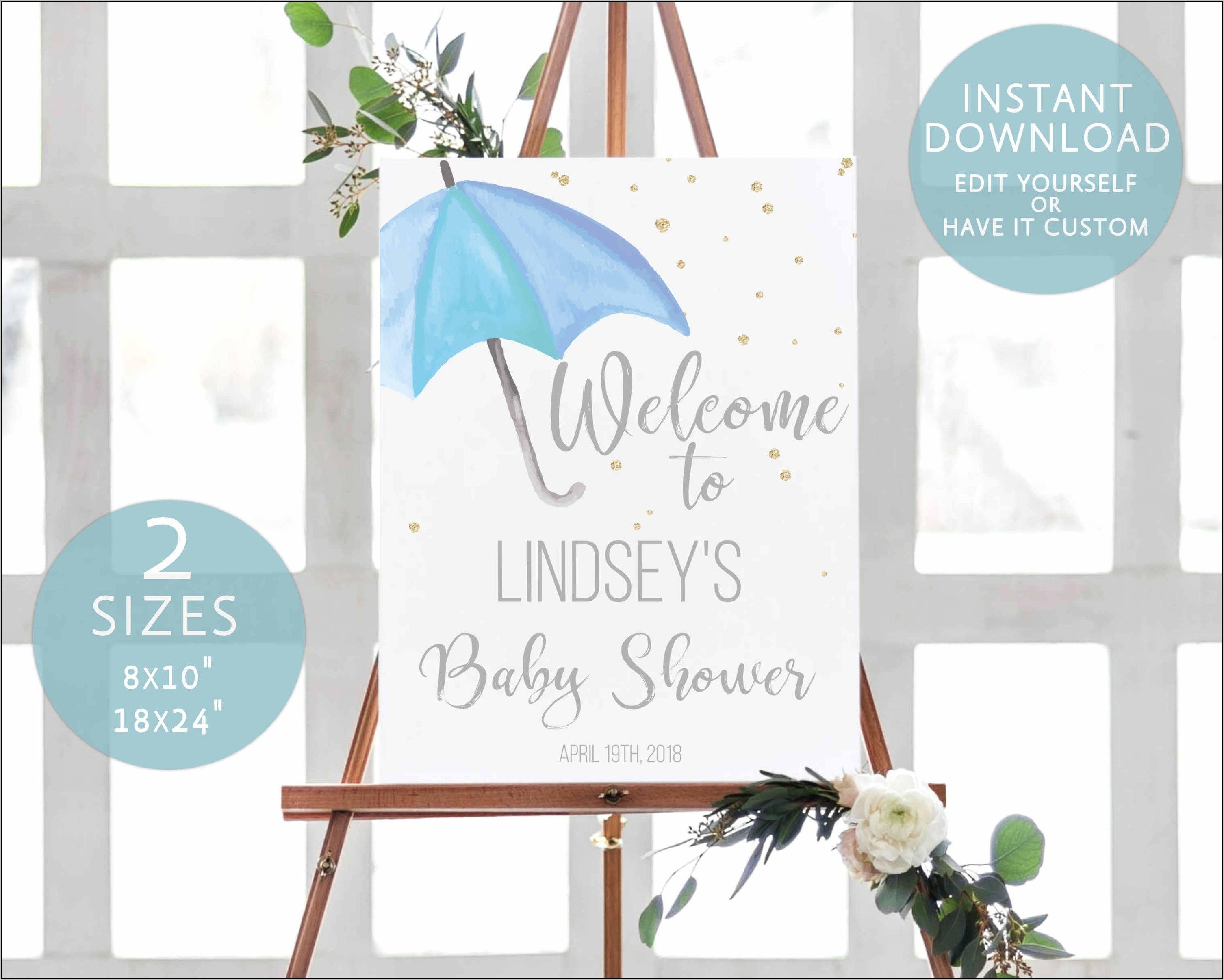 Baby Shower Welcome Template