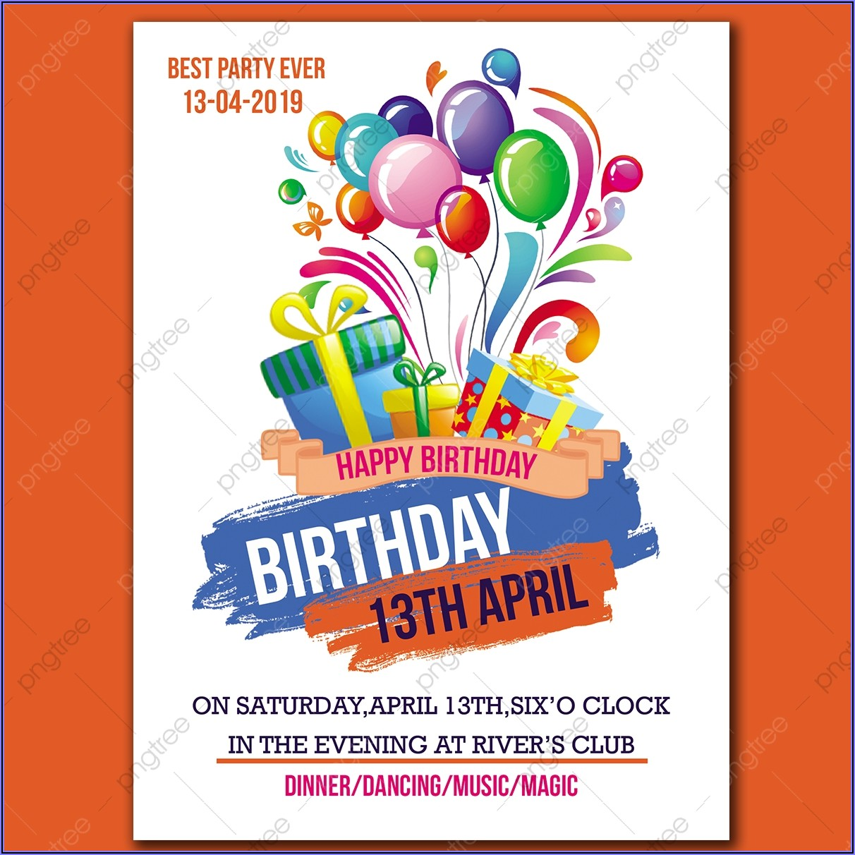 Birthday Invitation Card Mockup Free Download