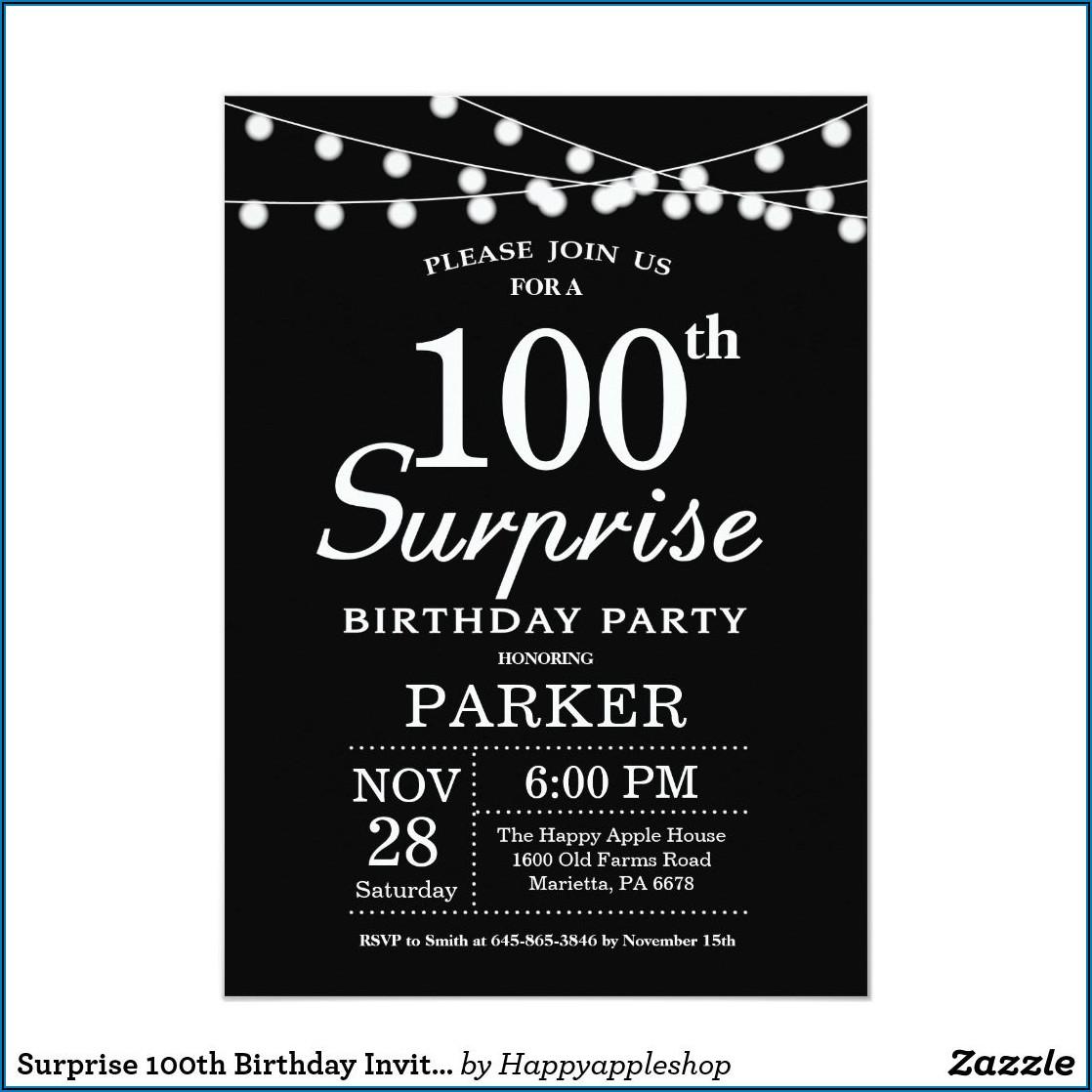 Black And White 40th Birthday Invitations