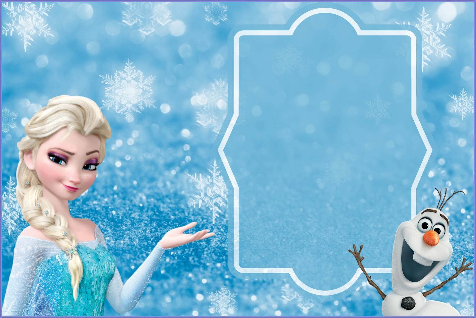 Blank Frozen Invitation Template