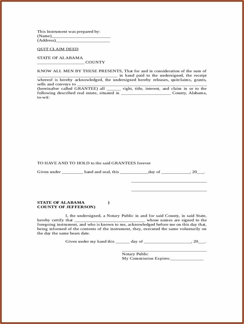 Blank Warranty Deed Form Utah