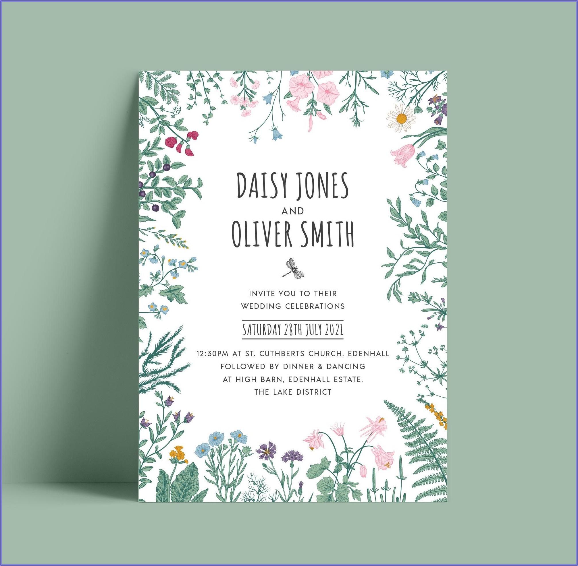 Botanical Wedding Invitations Uk