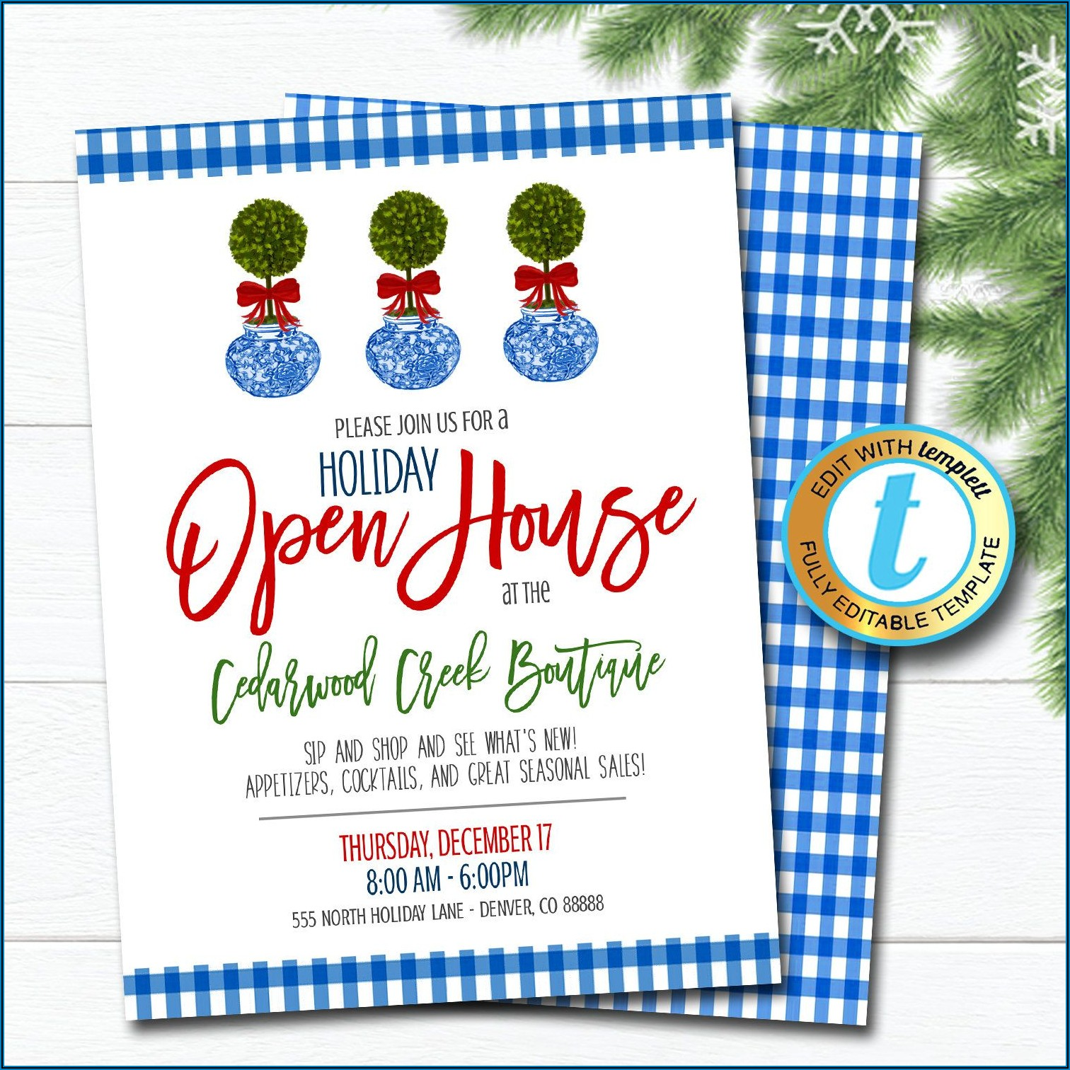 Business Open House Invitation Template
