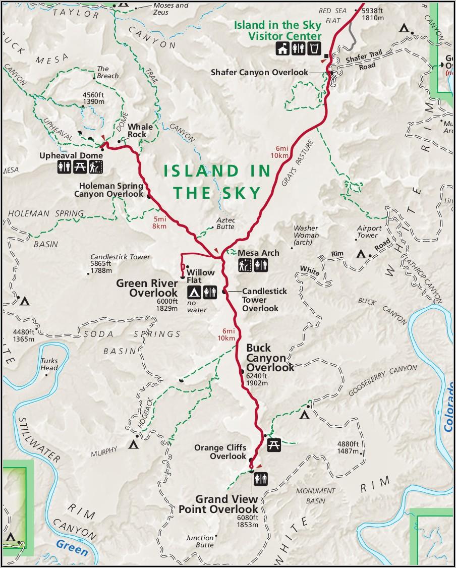 Canyonland National Park Map