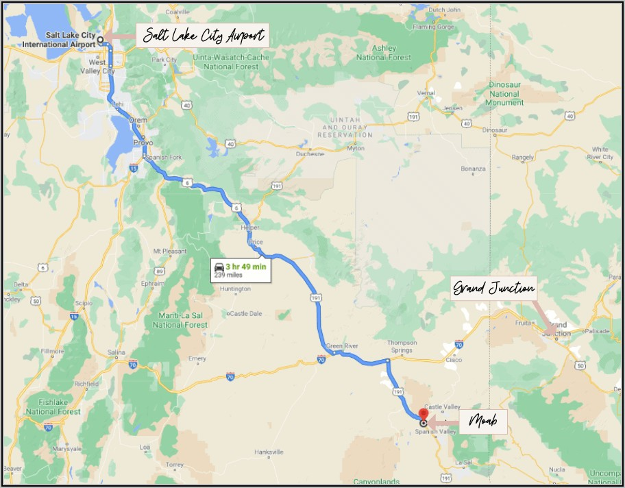 Canyonlands National Park Map Hiking Trails