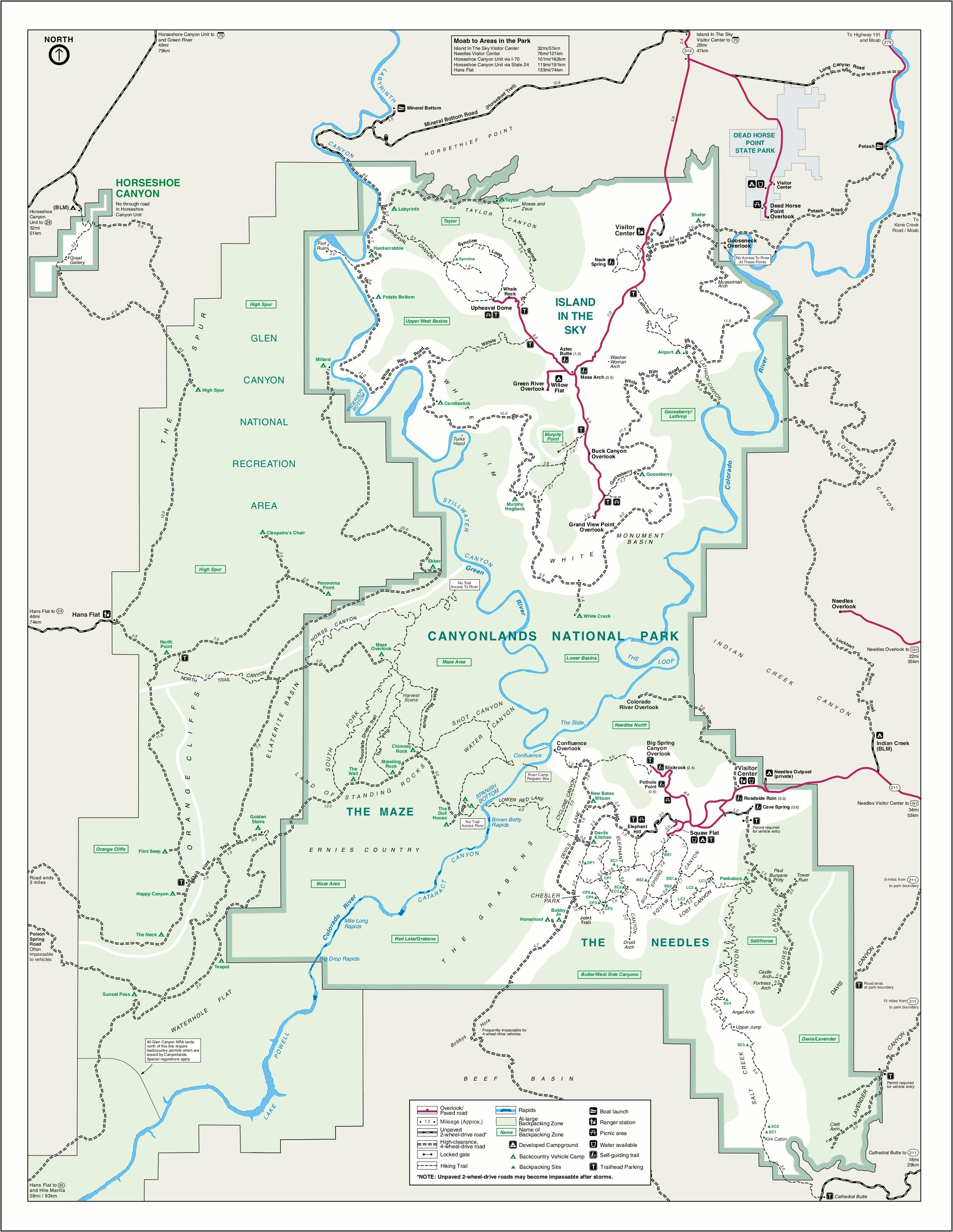 Canyonlands National Park Printable Map