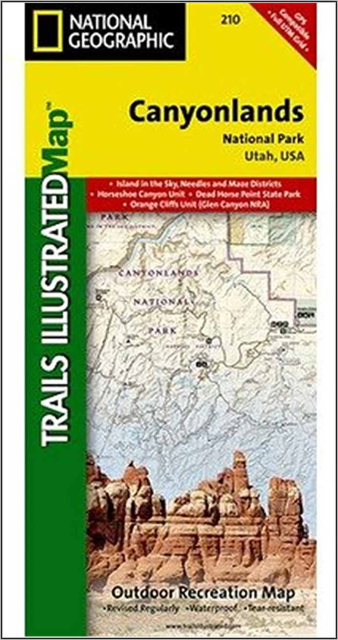 Canyonlands National Park Topographic Map