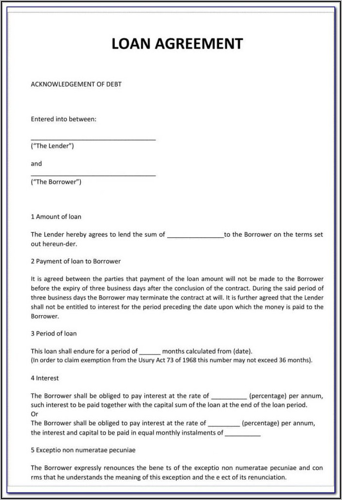 Car Finance Contract Template