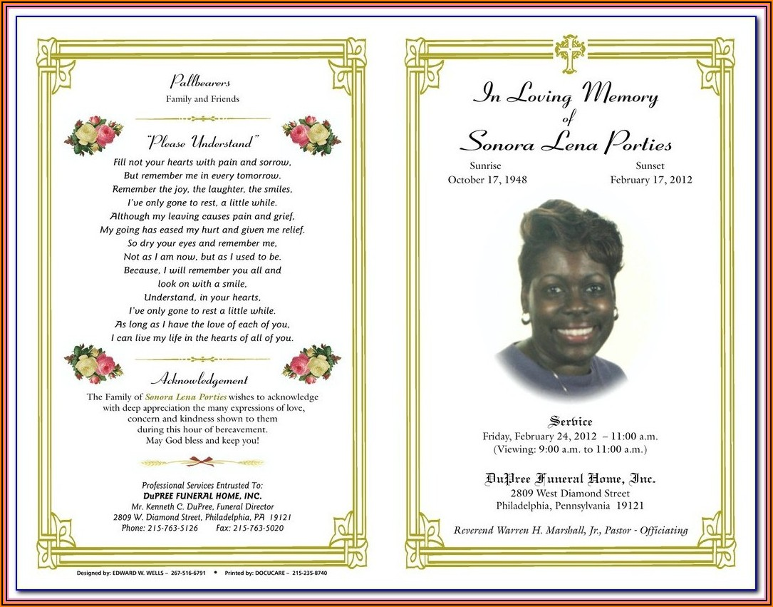 Catholic Funeral Mass Booklet Template Australia