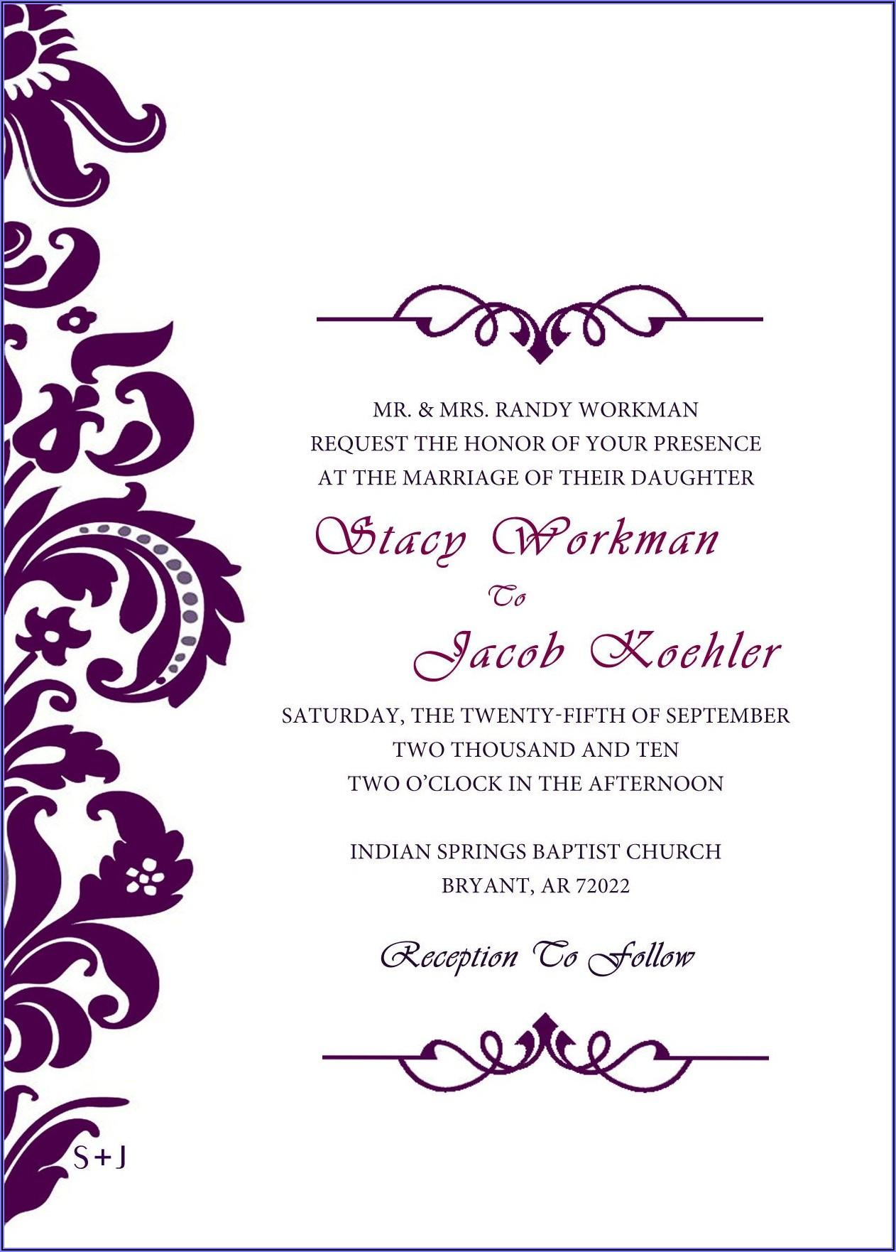 Celtic Wedding Invitation Templates Free