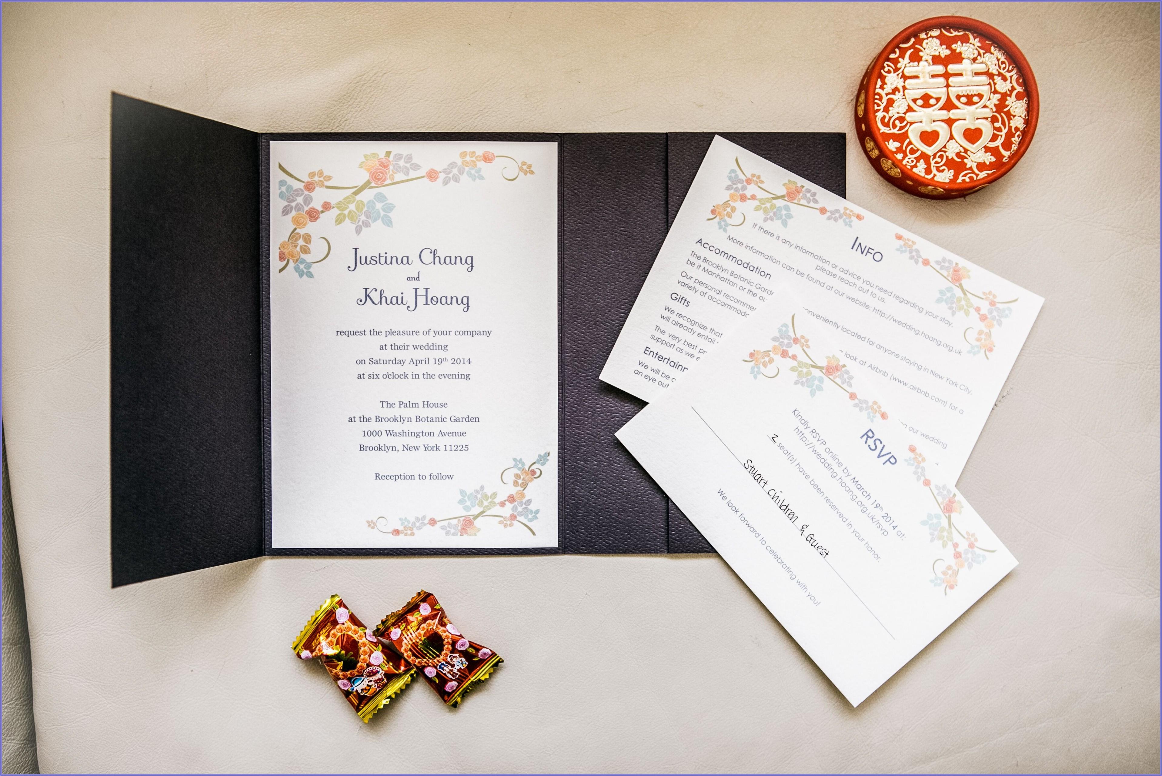 Cherry Blossom Inspired Wedding Invitations