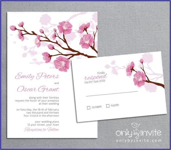 Cherry Blossom Wedding Invitation