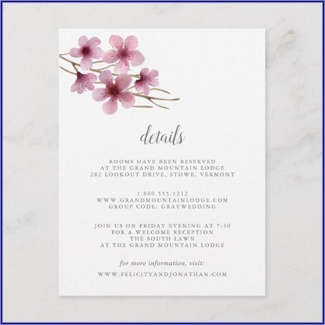 Cherry Blossom Wedding Invitations Diy