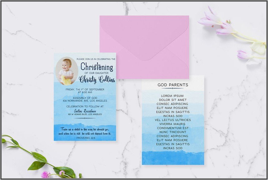 Child Dedication Invitation Card Sample