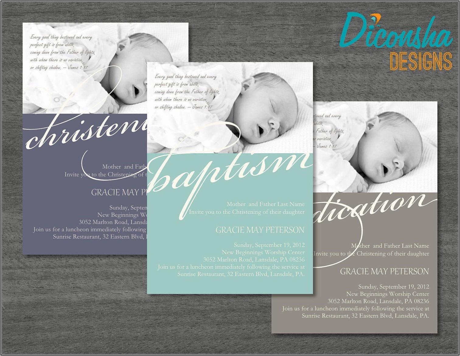 Child Dedication Invitation Card Template