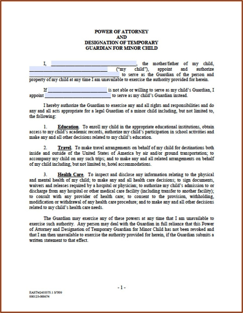 Child Guardianship Forms In Case Of Death California
