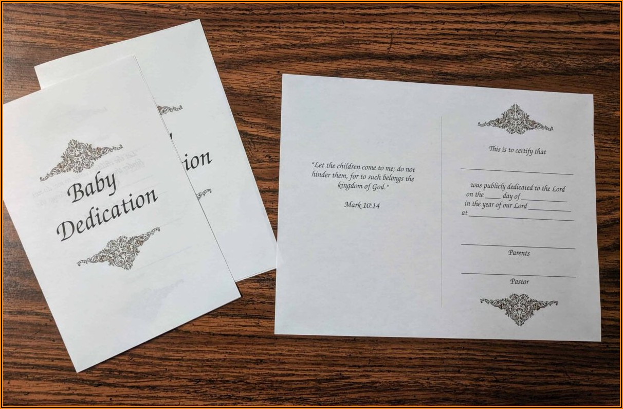 Christening Certificate Template Free