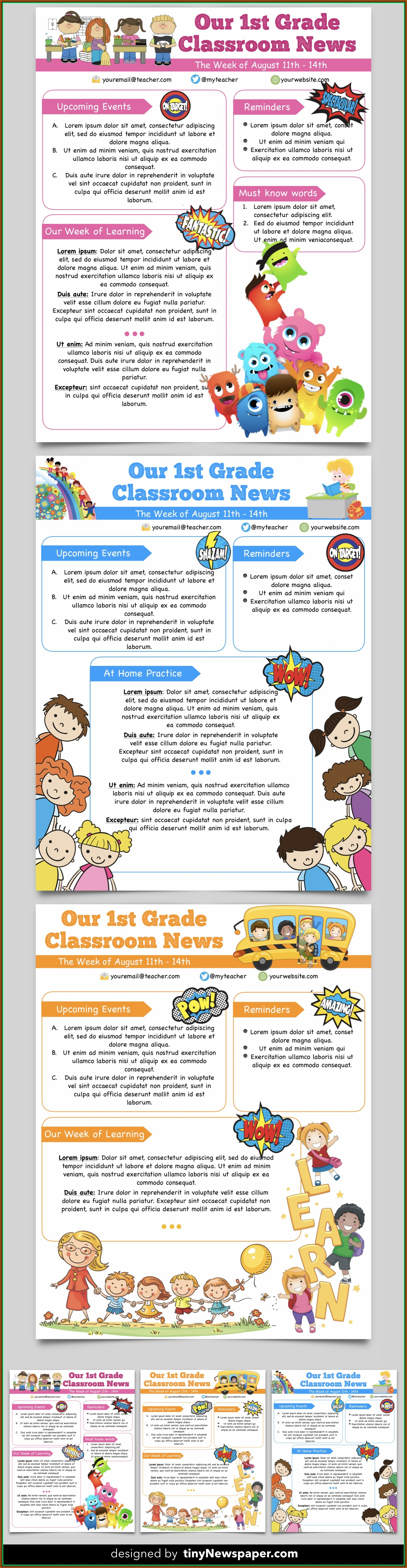 Christian Newsletter Templates Free Download
