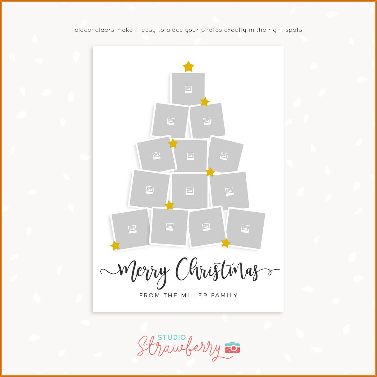Christmas Card Collage Template