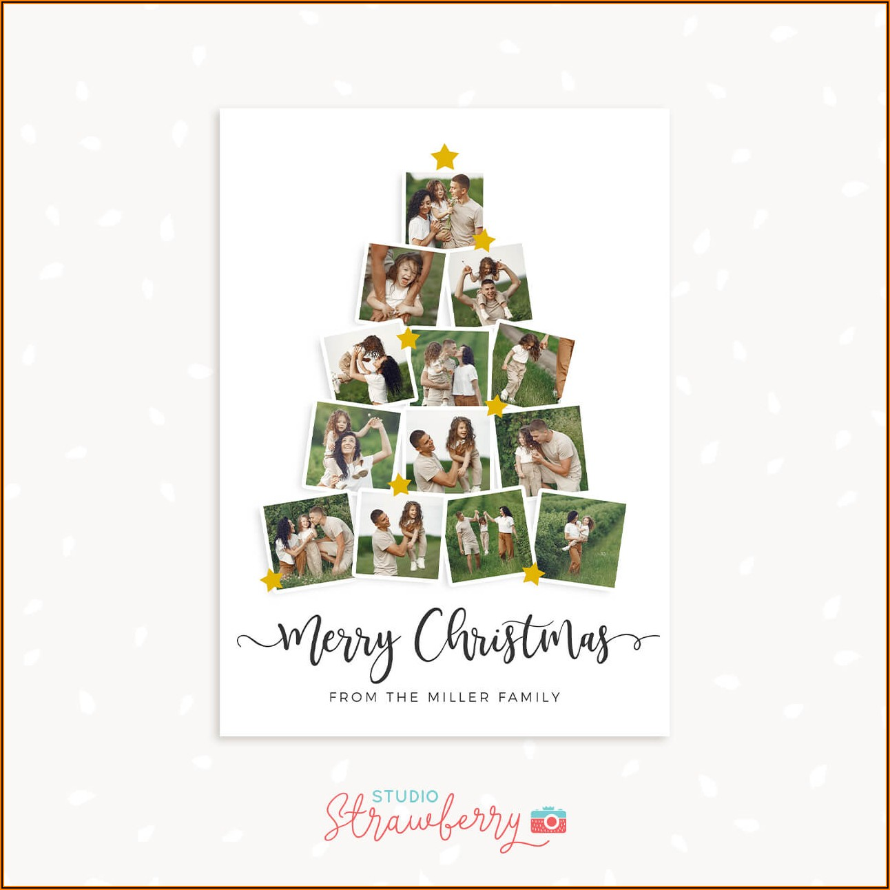 Christmas Card Photo Collage Template
